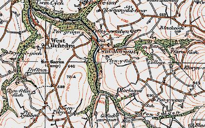 Old map of Afon Sylgen in 1923