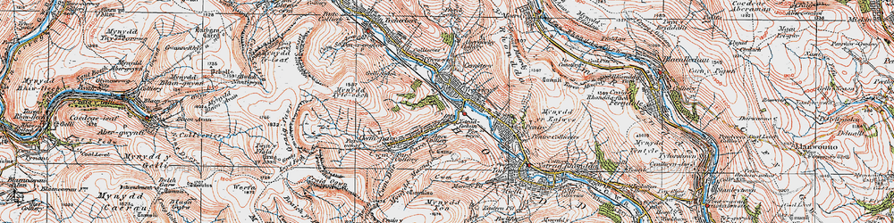 Old map of Cwmparc in 1923