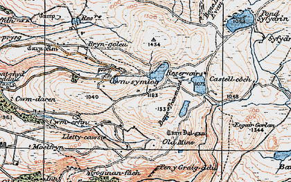 Old map of Banc Trawsnant in 1922