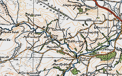 Old map of Bailea in 1923