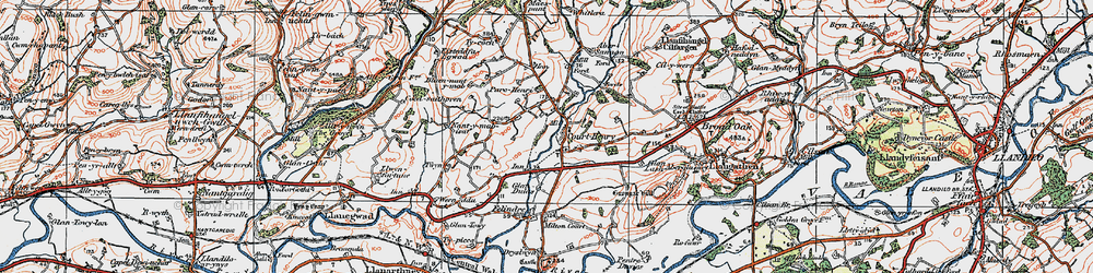 Old map of Whitlera in 1923
