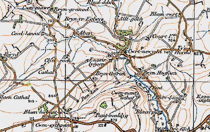 Old map of Alltgoch in 1923