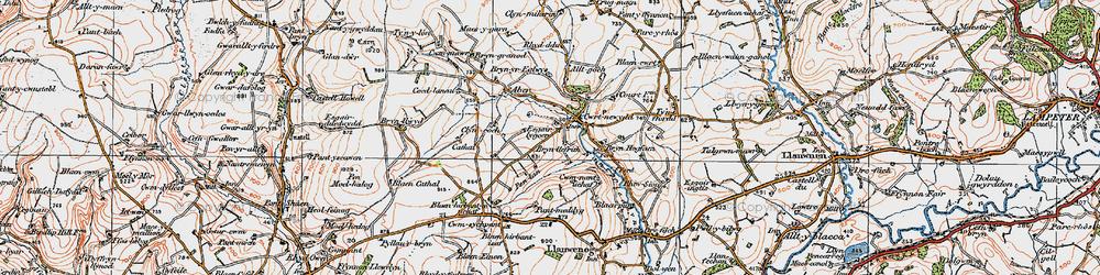 Old map of Alltgoch in 1923