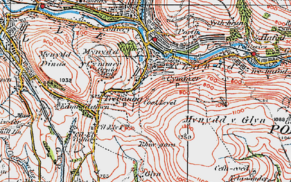Old map of Cymmer in 1922