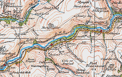 Old map of Afon Afan in 1923