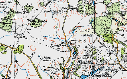 Old map of Stowe School in 1919