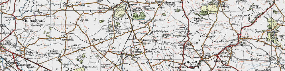 Old map of Ambion Wood in 1921
