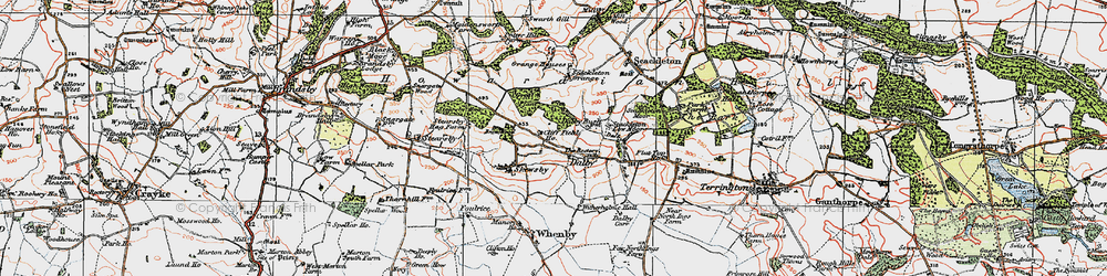 Old map of Witherholme Hall in 1924