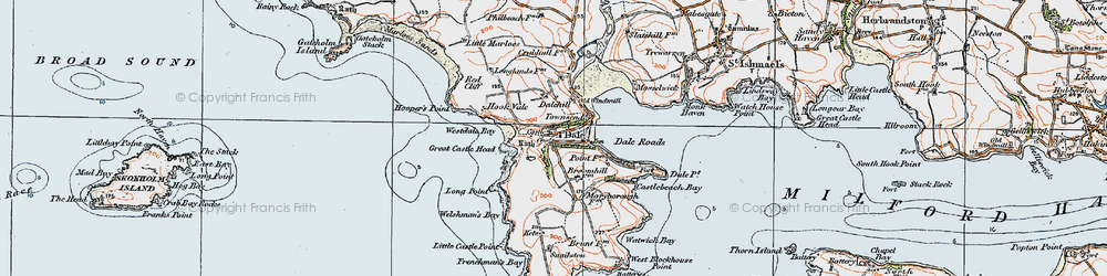 Old map of Westdale Bay in 1922