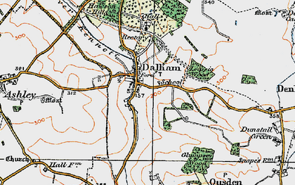 Old map of Leipsic Wood in 1921
