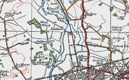 Old map of Dallam in 1923