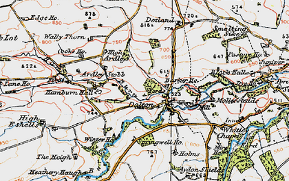 Old map of Barker Ho in 1925