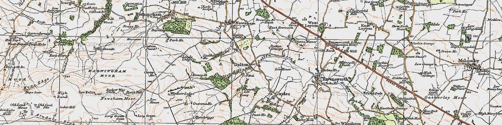 Old map of Dalton in 1925