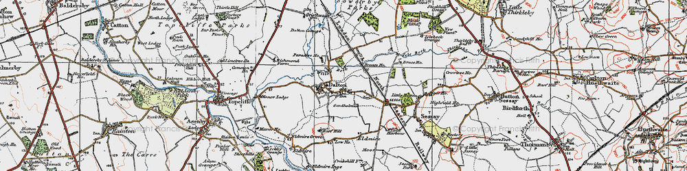 Old map of Westholme in 1925
