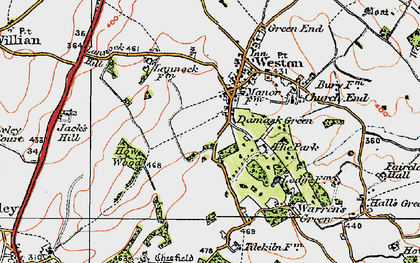 Old map of Lannock Hill in 1919