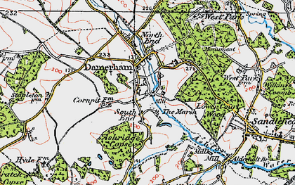 Old map of Ashridge Copse in 1919
