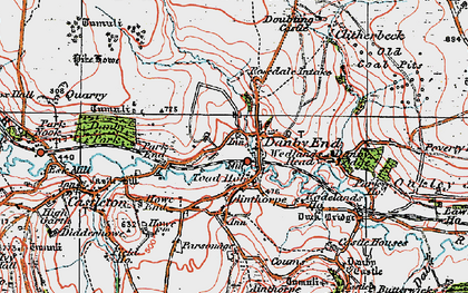 Old map of Danby in 1925