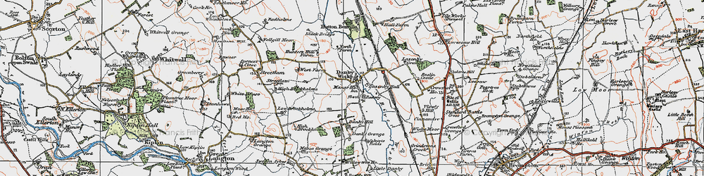 Old map of Wiske Moor in 1925