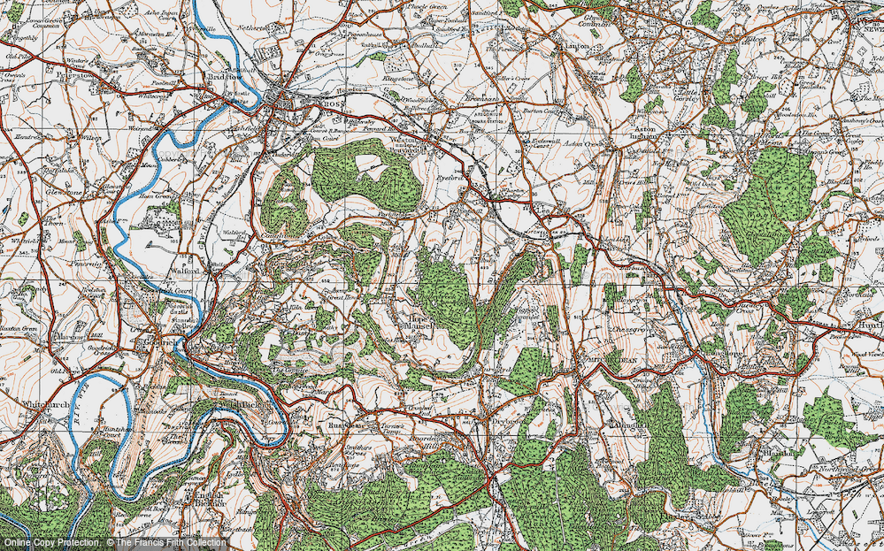 Old Map of Historic Map covering Baileybrook in 1919