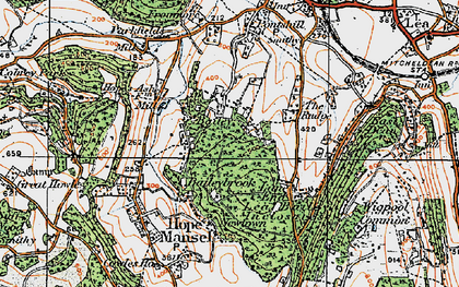 Old map of Baileybrook in 1919