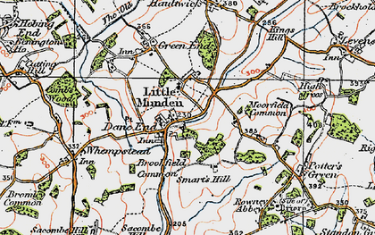 Old map of Dane End in 1919