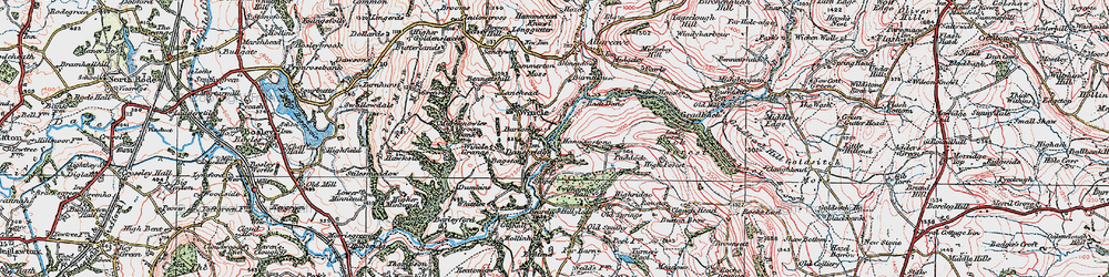 Old map of Allmeadows in 1923