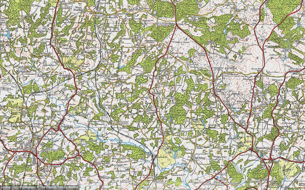 Old Map of Danehill, 1920 in 1920