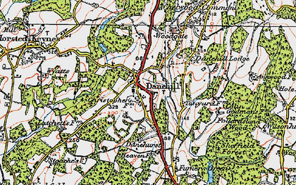 Old map of Danehill in 1920