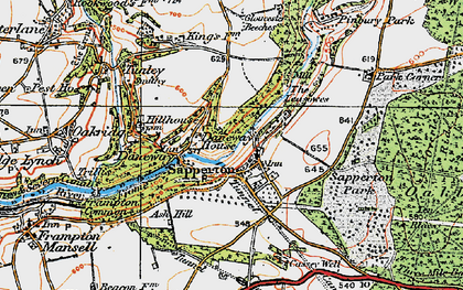 Old map of Daneway in 1919