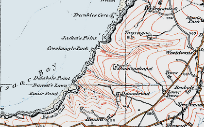 Old map of Dannonchapel in 1919