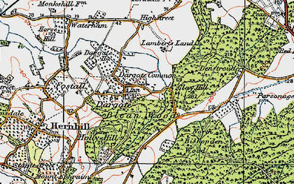 Old map of Acorn Cott in 1921