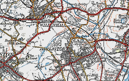 Old map of Darlaston in 1921
