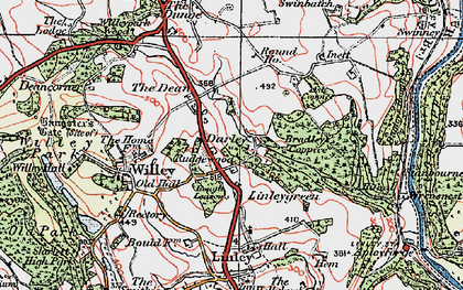 Old map of Ash Coppice in 1921