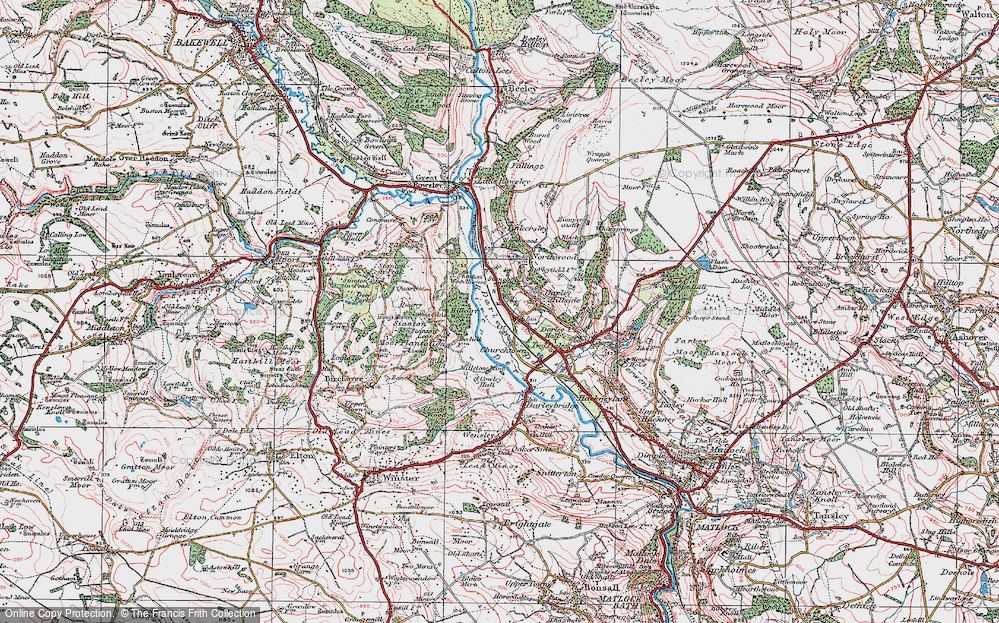 Old Map of Darley Dale, 1923 in 1923