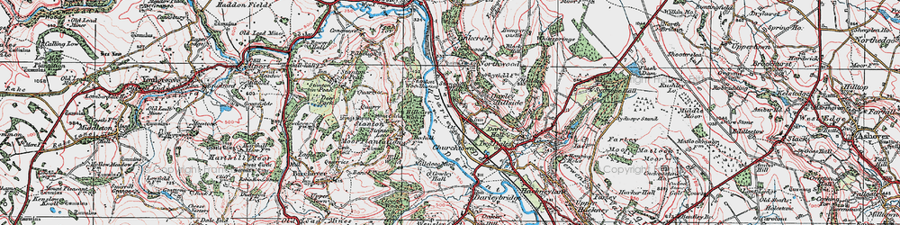 Old map of Darley Dale in 1923