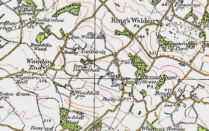 Old map of Darleyhall in 1920