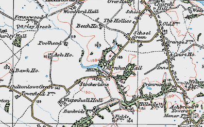 Old map of Ash Brook in 1923