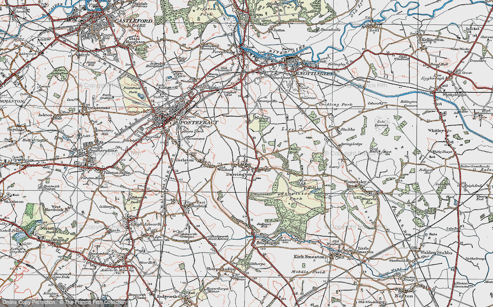 Old Map of Historic Map covering Leys in 1925