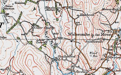 Old map of West Webburn River in 1919