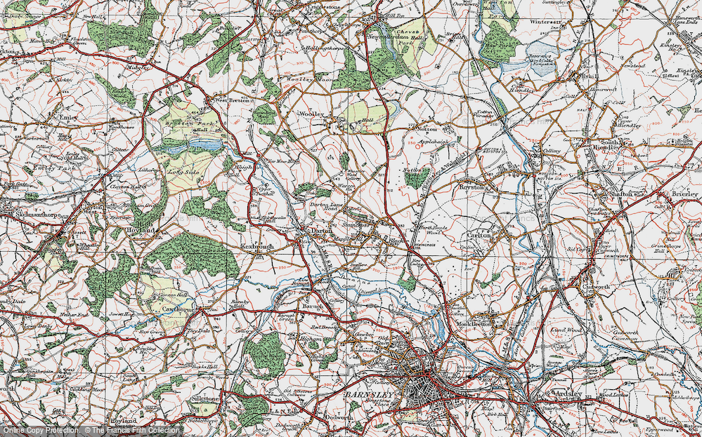 Old Map of Darton, 1924 in 1924