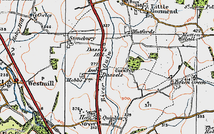 Old map of Dassels in 1919