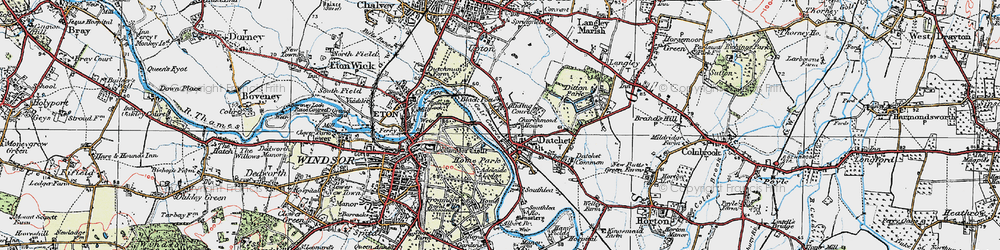 Old map of Romney Lock in 1920