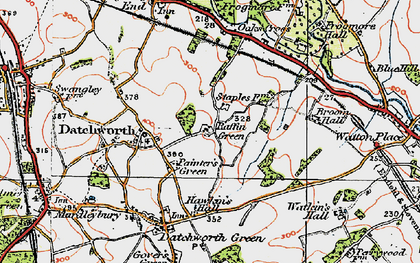 Old map of Datchworth in 1920