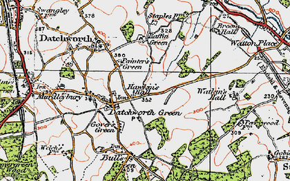 Old map of Datchworth Green in 1920