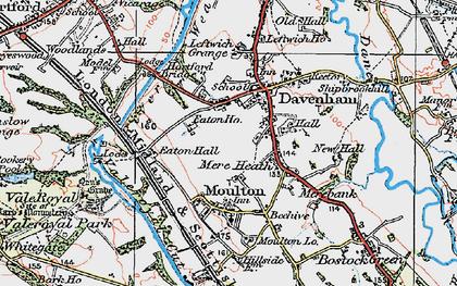 Old map of Davenham in 1923