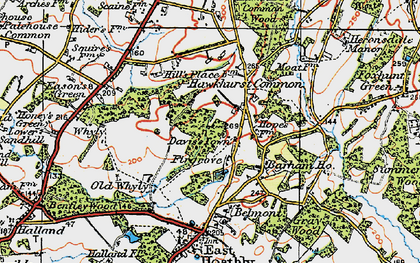 Old map of Barham Ho in 1920