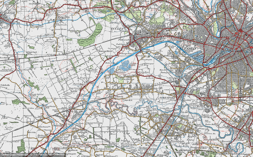 Old Map of Davyhulme, 1924 in 1924