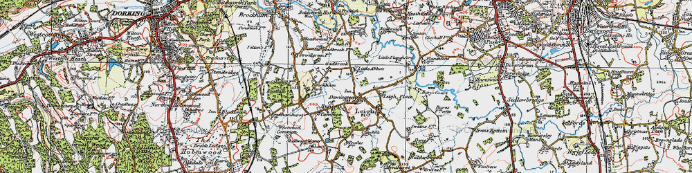 Old map of Leigh Place in 1920