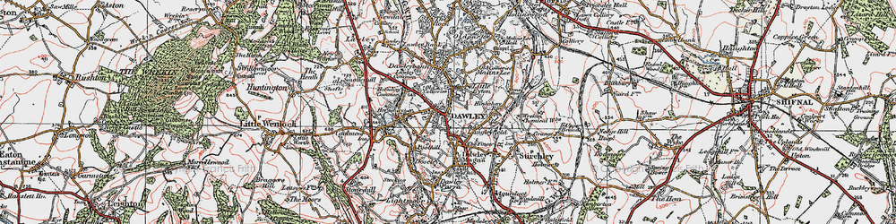 Old map of Dawley in 1921