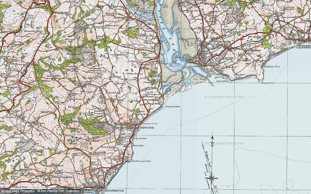 Old Map of Dawlish Warren, 1919 in 1919